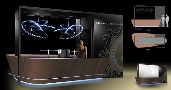Coffee Bar Design Concept for Las Vegas mall Rivercard.com